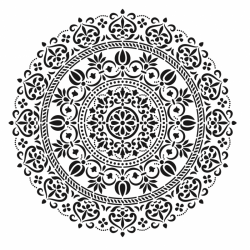 Plantilla Stencil Mandala