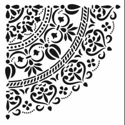 Plantilla Stencil Mandala Grande