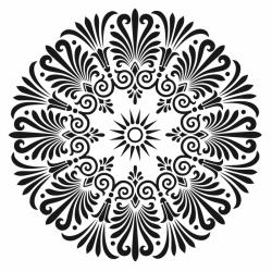 Plantilla Stencil Mandala 3