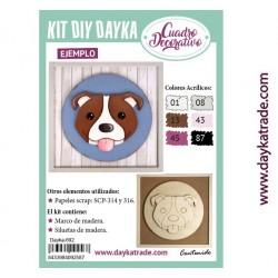Kit DIY Dayka cuadro infantil perrito