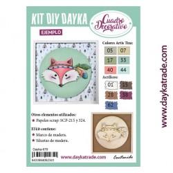 Kit DIY Dayka cuadro infantil zorrito
