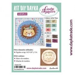Kit DIY Dayka cuadro infantil león
