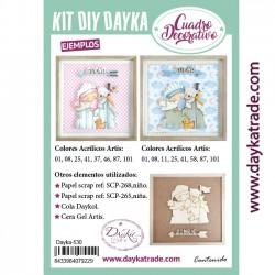Kit DIY Dayka cuadro bebe en caballito