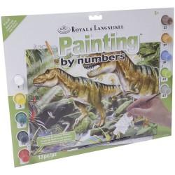 """Pintar por números """"Dinosaurios"""""""