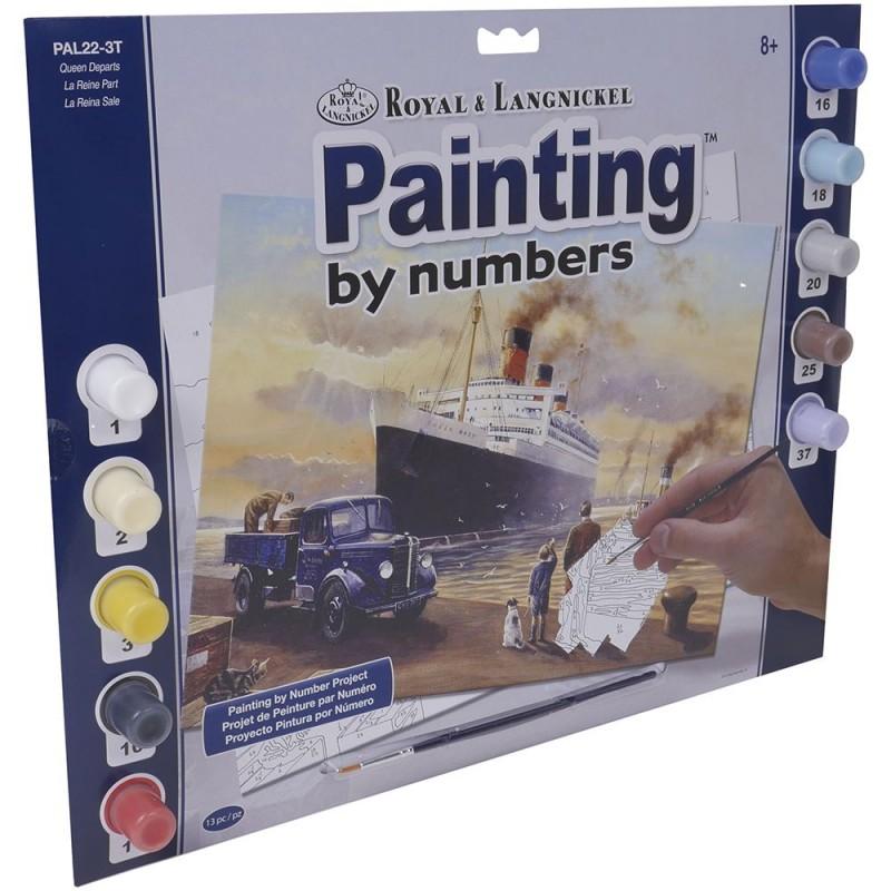 """Pintar por números """"Barco"""""""
