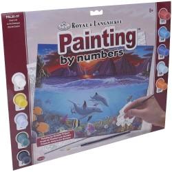 "Pintar por números ""Fondo marino"""