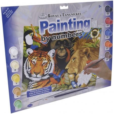 """Pintar por números """"Animales salvajes"""""""