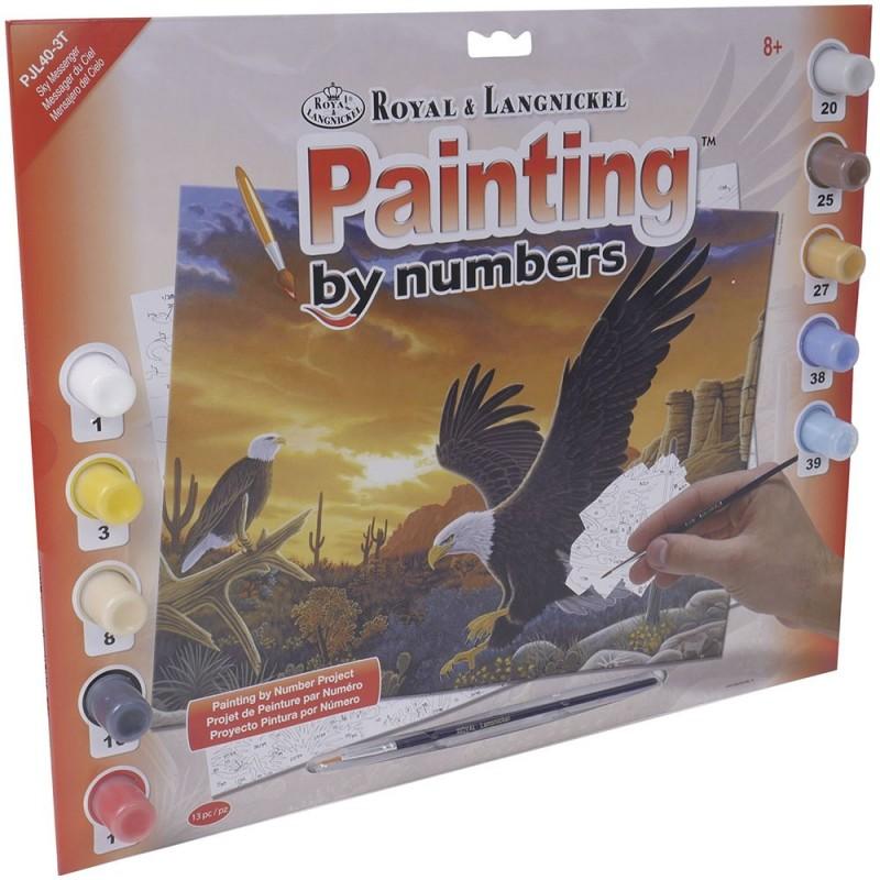 "Pintar por números ""Aguila"""