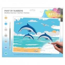 """Pintar por números """"Delfines"""""""