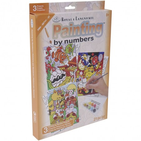 "Pintar por números ""Dibujos animados"""