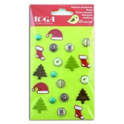 Set brads de navidad Papa Noel