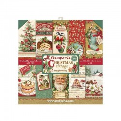 Colección Christmas Vintage. 30x30. Stampería