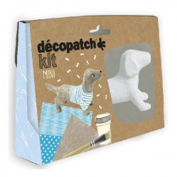 Kit de iniciación al Decopatch, Perrito Gris