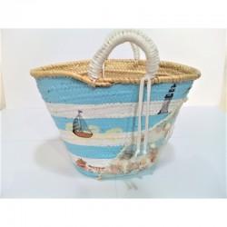 Capazo de Palma con motivos marineros