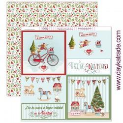 """Papel de la Colección Feliz Navidad """"Targetones"""", Dayka"""