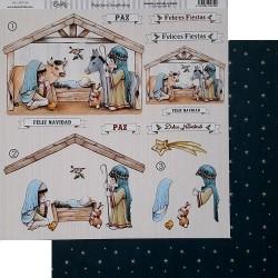 """Papel de la Colección Dulce Navidad """"Portal de Belén"""", Dayka"""