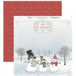 """Papel de la Colección Dulce Navidad """"Muñecos de Nieve"""", Dayka"""