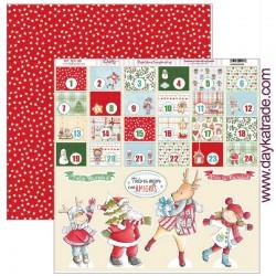 """Papel de la Colección Vive la Navidad """"Calendario de Adviento"""", Dayka"""