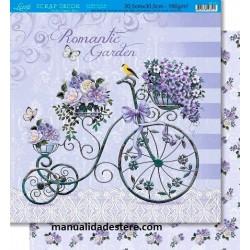 """Papel """"Bicicleta y Flores"""", Litoarte"""