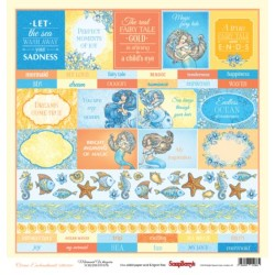 """Papel """"Etiquetas"""" de la Colección """"Ocean Enchantment"""", ScrapBerry"""
