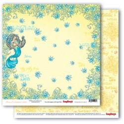 """Papel """"Sirena"""" de la Colección """"Ocean Enchantment"""", ScrapBerry"""