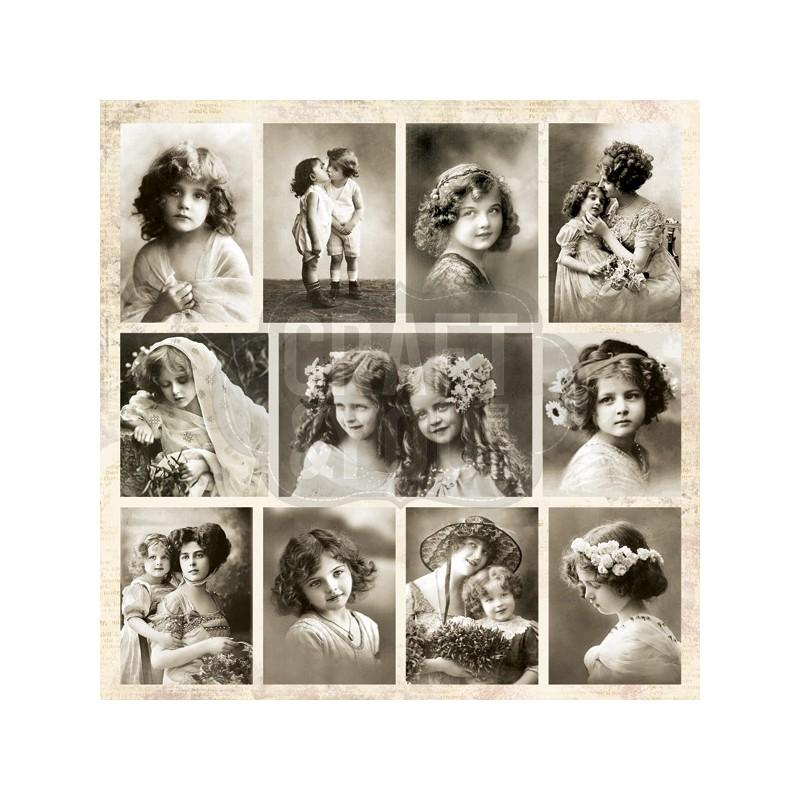 """Papel """"Postales"""" de la Colección """"Vintage Time"""", Craft&You"""