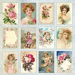 """Papel """"Postales"""" de la Colección """"Rose Garden"""", Craft&You"""