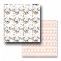 """Papel Colección """"Unicornios"""" Amelie, Unicornios y estrellas"""