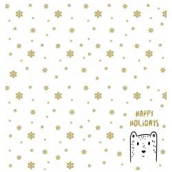 """Papel Colección """"Mágica Navidad 1"""" Amelie, Oso y copos"""