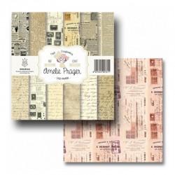 """Papel Colección """"Old Paper"""" Amelie, Portada y postales"""