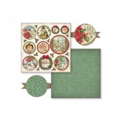 """Papel Colección """"Christmas Vintage"""" Stampería, Bolas navideñas"""