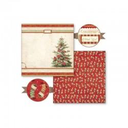 """Papel Colección """"Christmas Vintage"""" Stampería, Arbol de Navidad"""