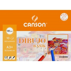 Papel Canson Basik 130gr, A3+ (Por hojas)