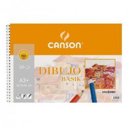 Bloc Papel Canson Basik Premium 150gr, A3+ (hojas microperforadas)