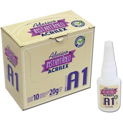 Adhesivo de Cianoacarilato Instantáneo, Acrilex, 20 gr