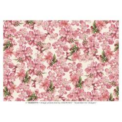 Papel de Cartonaje Floral Rosa, 50x70 cm
