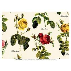 Papel de Cartonaje Rosas Rojas y Amarillas, 50x70 cm