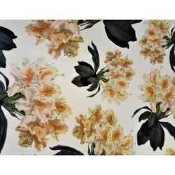 Papel de Cartonaje Floral Amarillo, 50x70 cm