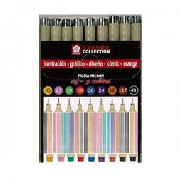 Set Pigma Micron 05, 9 colores