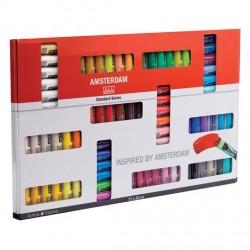 Caja Acrílicos Amsterdam Standar, 72 colores, 20 ml