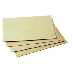 Tablero de madera de chopo, 30x40x2 cm