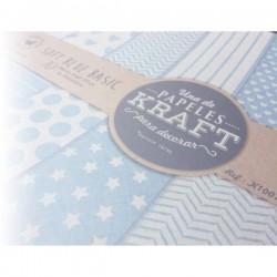 """Colección Básicos Kraft """"Soft Blue Basic"""""""