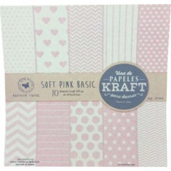 "Colección Básicos Kraft ""Soft Pink Basic"""