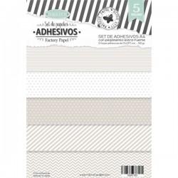 Set de 5 papeles Adhesivos A4 Beig