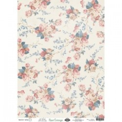 Papel de Cartonaje Flores 32X45 cm