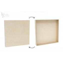 Bastidor de madera de chopo 30x30 cm