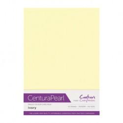 Cartulina Perlada A4, Ivory (Crema)