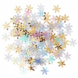 Lentejuelas Opalescentes Copo de Nieve