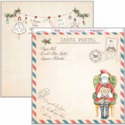 "Papel de Navidad ""Carta postal"", Dayka"