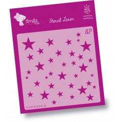 Plantilla de Stencil Estrellas, 15x15 cm